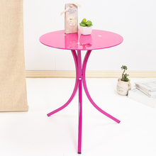 Fashion Simple Tempered Glass Small Coffee Table Phone Rack Sofa Corner Furniture Round Table(China)