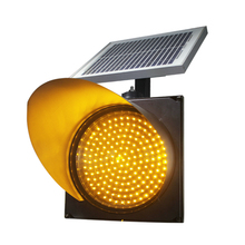 Flashing 300mm Road Safety Solar Power Traffic Light(China)