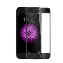 Tempered Glass For iphone 6 6s 6plus Full Coverage Explosion protection For iphone7 7Plus 9H Black White Hard Edge Front Film(China)