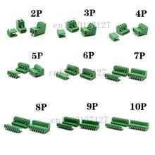 5.08 2pin-10pin Curved needle Terminal plug type 300V 10A 5.08mm pitch connector pcb screw terminal block(China)