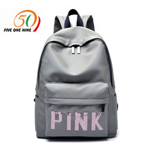 two colors VS Zipper Shoulder Versatile Sack Summer Holiday Beach letter bag Shopping BACKPACK Tote love pink backpack