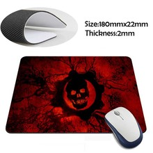 gears of war skull Rubber Soft aming Mouse ames Black Mouse pad