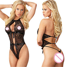 Buy porn sexy lingerie hot women black Perspective lace open bra crotch teddy sexy babydoll erotic lingerie lenceria sexy costumes