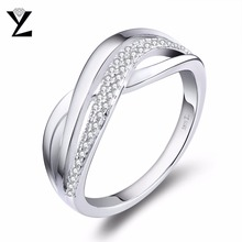 YL Brand New 925 Sterling Silver Engagement Rings for Women Wedding Female Luxury Sterling-Silver-Jewelry Wholesale Ring Size 12(China)