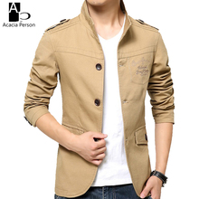2017 New Spring and Summer Men's Jackets Solid Cotton Casual Coat Men Army Military Khaki Jacket Plus Size M-4XL Z6004