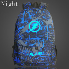 2017 Cool Movie Stars Flash Light Man Backpacks Luminour Backpacks For Teenagers Children School Bookbag Travel Zipper Bags