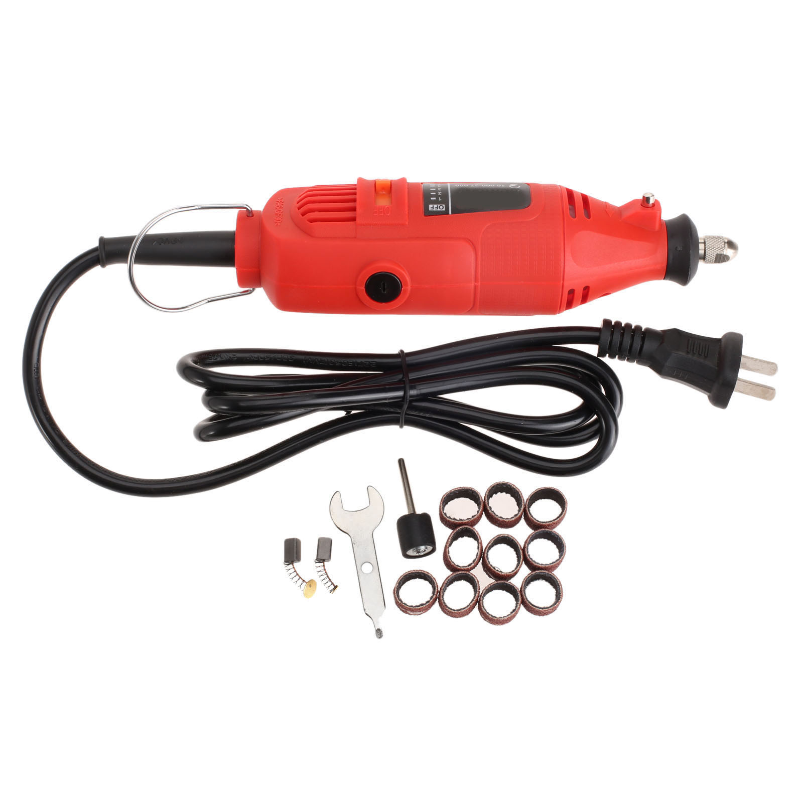 DRELD Electric Drill Grinder 230W with 5 Position Variable Speed Rotary Tool Mini Grinding Machine +10Pcs Sanding Bands +Mandrel<br>