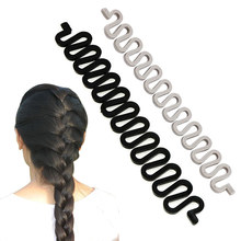 6 Colors Fashion Hair Braiding Braider Tool Roller With Magic Hair Twist Styling Bun Maker(China)