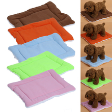 Soft Fleece Pet Mats Dog Cat Bed Cushions Indoor Small Dog Air Conditioning Pad Puppy Cat Dogs Pet Supplies(China)