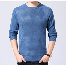 7 Colors Men's Wool Sweater Pullover Thick for Autumn and Winter Casual Fashion Solid Color Warm Knit Basic Tops O Neck 917(China)