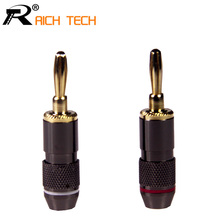 2PCS Non-Magneti Monster Audio Speaker Cable Banana Jack Plug Audio Power Speaker Binding Post Terminal Connectors Banana Socket