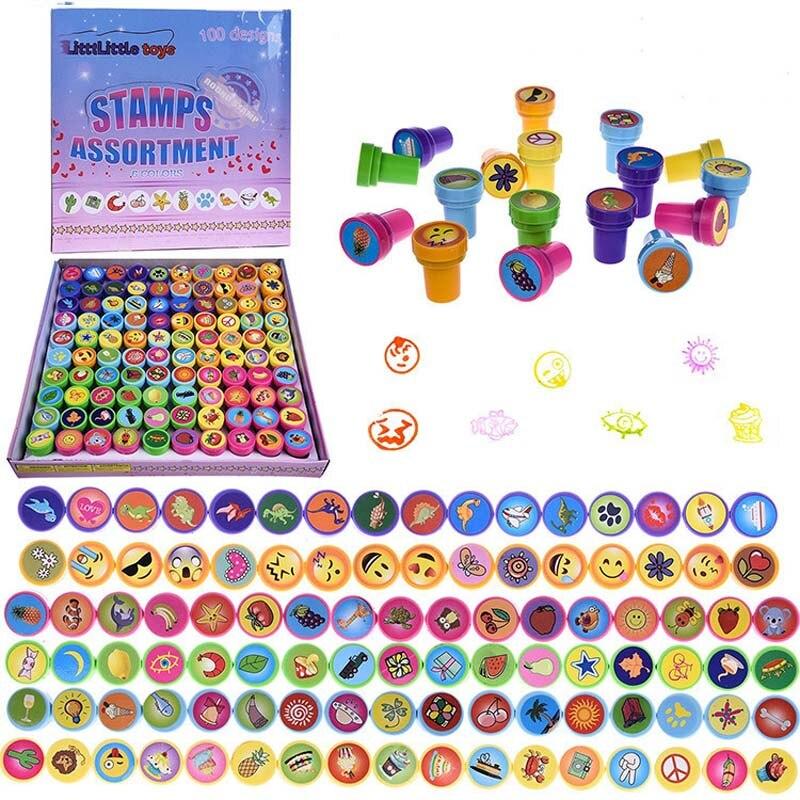 6 Styles//Set Kawaii Cute Teachers Stampers Inking Praise Reward Stamps Motivation Sticker School Supplies