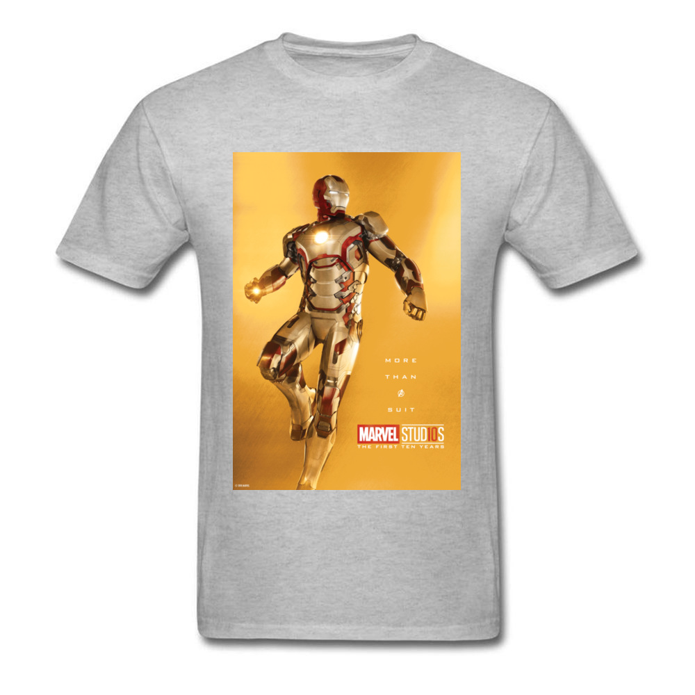 Tops Tees Marvel More Than A Suit Thanksgiving Day Short Sleeve Pure Cotton Round Neck Men Top T-shirts Casual Tshirts Prevalent More Than A Suit grey