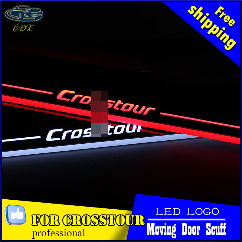 Car Styling LED Moving Door Scuff for Honda Crosstour 2014 2015 Door Sill Plate Cover Side Step Led Pedal Automotive Accessories<br><br>Aliexpress