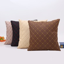 Modern minimalist imitation leather pillowcases car sofa office cushion cover home decoration
