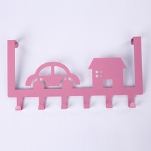 [ Fly Eagle ]Hooks Kitchen Cabinet Draw Towel Clothes Pothook Clothes Hanger Door Holder Pink car and house(China)
