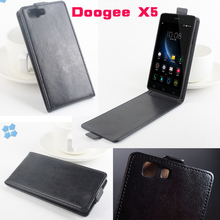 New style DOOGEE X5 Case Leather PU Flip For DOOGEE X5 PRO Cover Case Mobile Phone hard Shell Cover Funda(China)