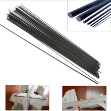 16pcs/lot Carbon Fiber Rods for RC Plane DIY tool wing tube Quadcopter arm 1mm 1.5mm 2mm 3mm (0.5 meter) Wholesale