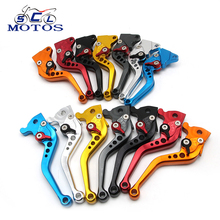 Sclmotos- -Adjustable Motorcycle Brake Clutch Lever Scooter Electric Modify Brake Lever For GY6 JOG 110CC XMAX Racing(China)