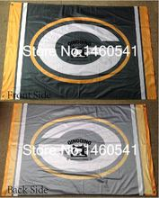 Green Bay Packers column Flag 3ft x 5ft Polyester NFL Green Bay Packers Banner Flying Size No.4 144* 96cm QingQing Flag(China)