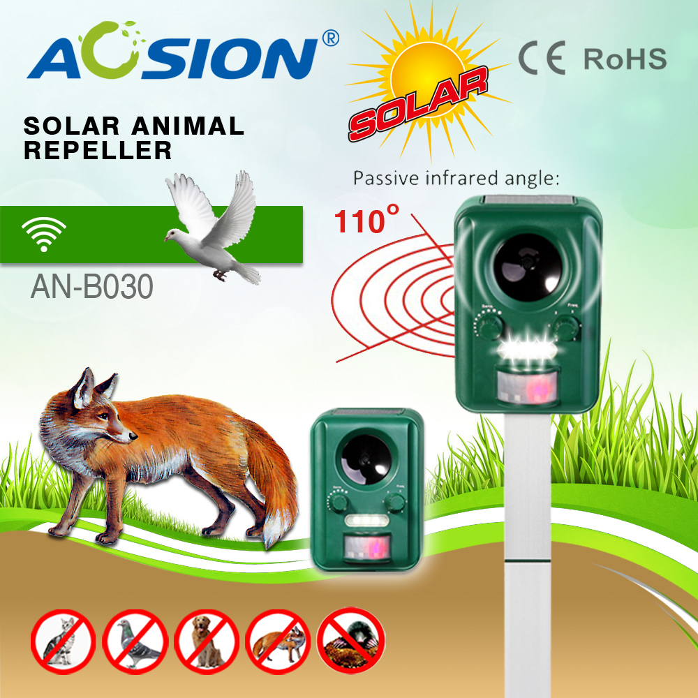 Buy Free Shipping Garden Electronic With Flashing Dog Repellent Circuit Ultrasonic 2 Solar Animal Repeller Bats Birds Dogs Cats Fox Deer