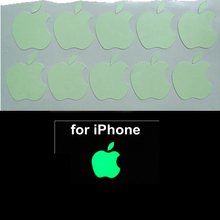2017 New Arrival Fahion DIY Decoration Luminous Logo stickers for Apple iphone 6 plus / 6s plus Logo Label Decal