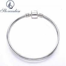 Slovecabin 2017 Authentic 925 Sterling Silver Bangles For Women Silver Indian Bracelet Bangle Cuff Vintage Famous Jewelry(China)