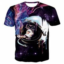 T Shirt Women 2017 Summer Tops Print Animal Cartoon Plant Magic 3D T-shirts Dropship S-2xl(China)