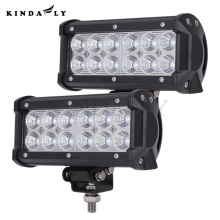 KINDAFLY 2PC Wholesale IP68 7 Inch 36W Off Road LED Light Bar Flood Beam for Jeep Cabin Boat SUV Truck Car ATV High Lumen 3600LM