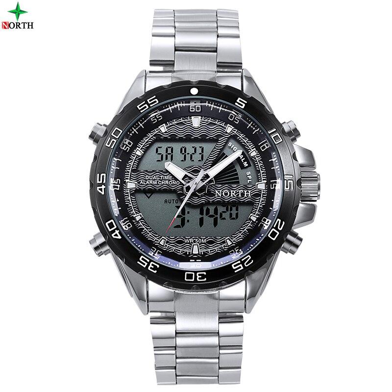 Sport Wristwatch Men Military Stainless Stell 30M Waterproof LED Digital Stopwatch Top Luxury Brand Quartz Sport Wristwatch Men<br><br>Aliexpress