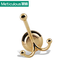Meticulous Vintage Coat Hooks On the Wall Metal Zinc Alloy Robe Hook Bathroom Bedroom Wall Hanging Clothes Rack Towel Hanger(China)