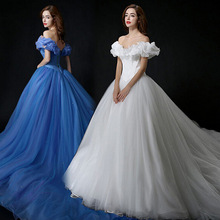 Custom Made New Design Adult Cinderella Costumes Women Halloween Party Dress Cosplay Costumes