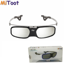MITOOT Active Shutter 3D DLP glasses metal legs for BenQ Z4/H1/G1/P1 LG,NUTS,Acer,Optoma DLP-LINK projectors with Myopia clip