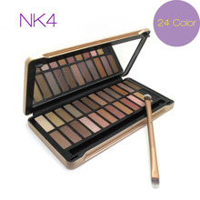NK 4 7 8 Eyeshadow With Brush Kit Makeup 24 Color Naked Palette Cosmetic Face Care Classic 2017 Professional Pop Color Case Set