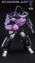 [Show.Z Store] Cloud 9 W-01 Quakeblast C9 Cloud9 Quake Blast Shockwave Transformation Action Figure(China)