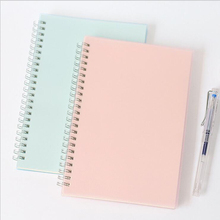 A5B5 Cute PP Frosted Coil Notebook Office School Stationery Line Grid Functional Planner Creative Blank Spiral Organizer
