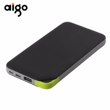 Aigo Capacity 10000mAh Portable Power Bank Charger Backup External Battery Pack for Smartphones Tablet PC Rechargeable 5V/2A(China)