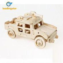 LeadingStar Hummer Jeep Model 3D Wooden Puzzle Children and Adult's Educational Building Puzzle Toy Hot Selling