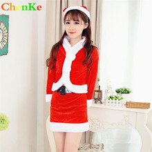 ChenKe Hot sale Sexy Dress Costume Adult Little Red Riding Hood Costume Halloween Xmas Santa Claus Cosplay Costumes For Women(China)