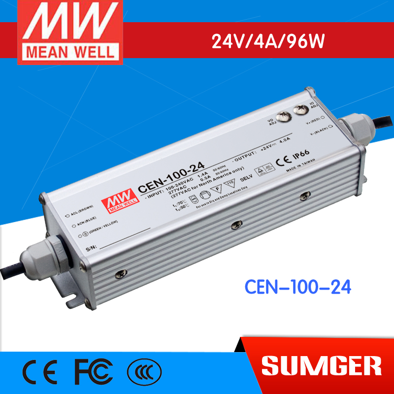 Worthwhile Free shipping MEAN WELL CEN-100-24 2Pcs 24V 4A meanwell CEN-100 24V 96W Single Output LED Power Supply<br><br>Aliexpress