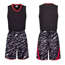 Free Shipping Black Cool Customized Basketball Jerseys Sets Men Youth Kids Boys Basketball Club Team Shirt Singlet Suit Uniforms