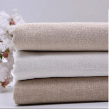 1PCS 50*150cm Linen fabric plain linen cloth linen handmade DIY fabric curtains background bag solid color fabric tablecloth