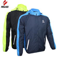 ARSUXEO Outdoor MTB Bike Men Jacket Rain Sports Raincoat Windbreaker Waterproof Quick-drying Bicycle Running Cycling Jacket
