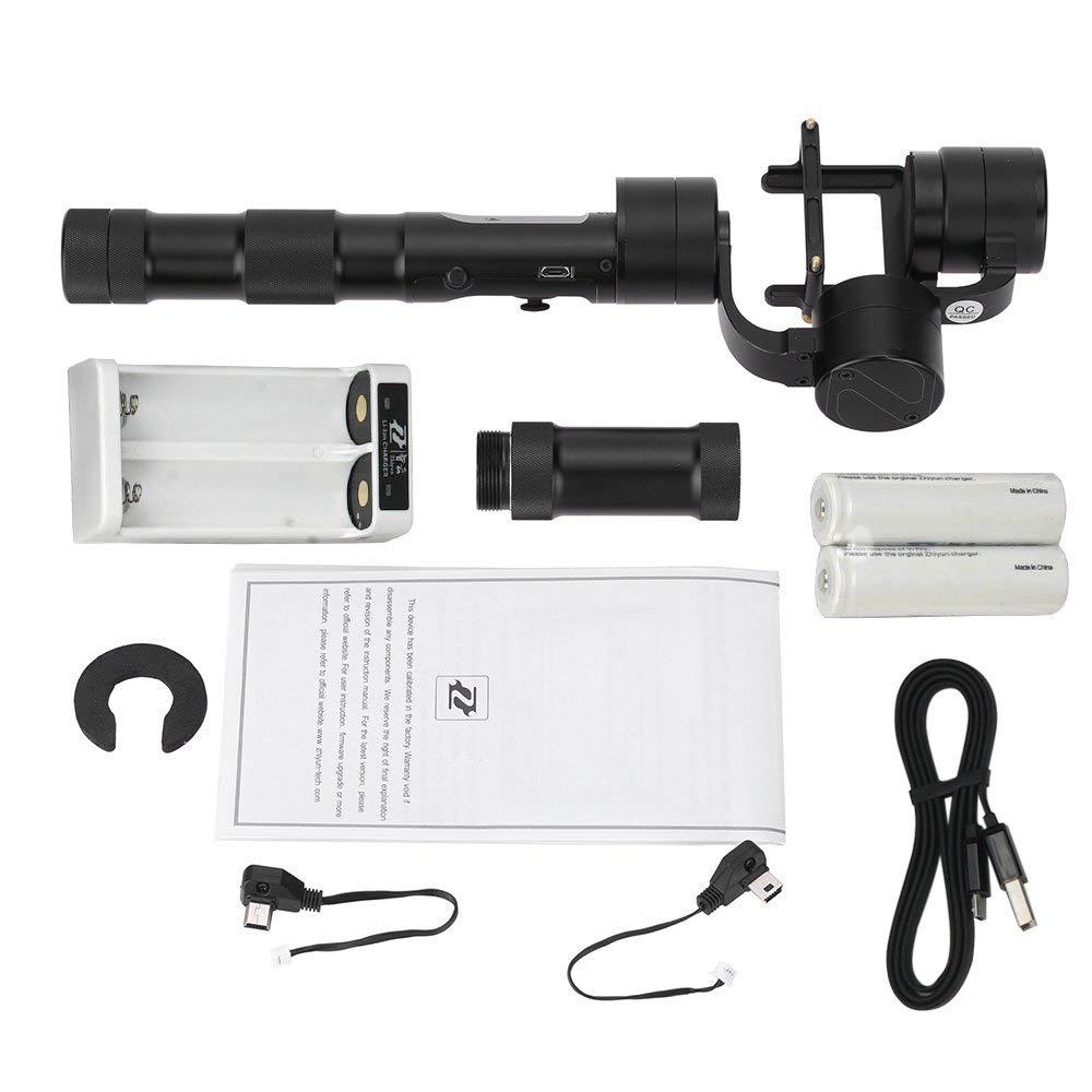Zhiyun Evolution 3-Axis Handheld Gimbal Stabilizer for GoPro Hero 6 5 4 3 XiaoMi Yi SJ4000 SJ5000 Sport Cameras,CNC Aluminum112