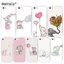 Buy MaiYaCa cute little elephant cartoon phone case Accessories cover soft tpu Apple iPhone 8 7 6 6S Plus X 5 5S SE 5C 4 4S case for $0.90 in AliExpress store