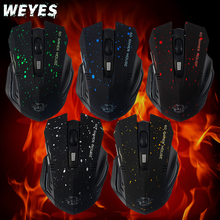 New 2015 HOT Sale 6Keys USB Wireless Gaming Mouse Optical Computer Game Mouse 2.4G WIFI Wireless Mouse For Gamer(China)