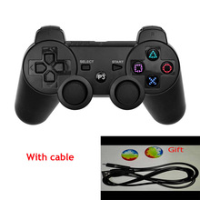 Black For SONY PS3 Controller Wireless Bluetooth Joysticks for DUALSHOCK 3 SIXAXIS for PlayStation 3 Game Controller+Cable