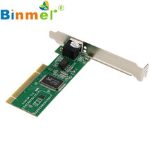 Levert Dropship Original Binmer New 10/100 Mbps NIC RJ45 RTL8139D LAN Network PCI Card Adapter for Computer PC July 08