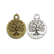 JAKONGO Antique Silver Plated Zinc Alloy Tree of Life Charms Beads Pendant for Women Bracelet Jewelry Making Handmade DIY
