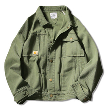 Spring Fall Vintage Cool Mens Green  Loose Cotton Jacket , Autumn Casual Stylish Designer Man's Jackets , Male Coat